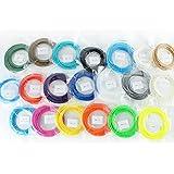 KYG Filamentos lineal 3D ABS para rellenar Plumas Lapiz Impresora (17 Colores y 3 Colores del resplandor 10M x 20color 200M) 1.75mm/ Color al azal