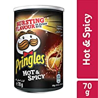 Pringles Hot & Spicy Flavored Chips- 70 grams Can
