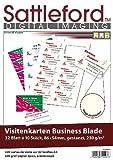 Sattleford Drucker-Papiere: 320 Visitenkarten creme strukturiert Inkjet/Laser 230 g/m² (Visitenkarten-Druckpapier)