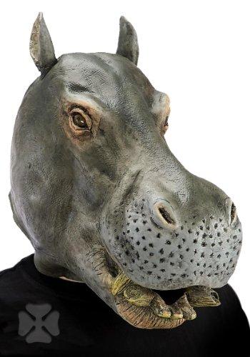 Maschera ippopotamo in gomma travestimento animali