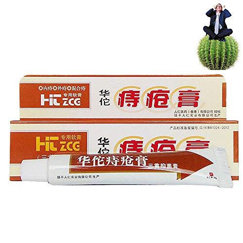 Hua Tuo Pommade Hémorroïdes,Hémorroïdes Puissantes à Base de Plantes Crème Anale Crème pour...