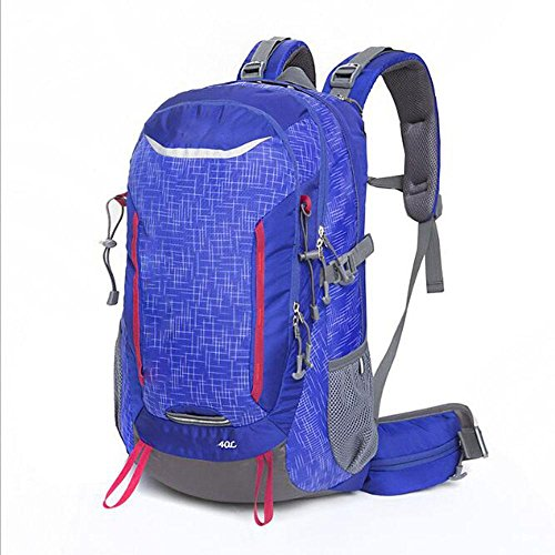 Kiki Outdoor Rucksäcke Multifunktions Wasserdicht reißfestem Nylon Bergsteigen Camping 40L, blau (Soft Tackle Box, Rucksack)