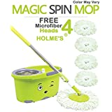 Holme's Easy Magic Floor Mop 360° Bucket Pvc Mop (Random Color)