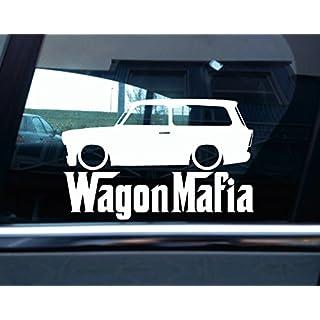 Abgesenkt Trabant 601Kombi Wagon Mafia Classic Car Silhouette Aufkleber