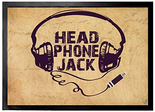 Felpudos Música Headphone Jack, Retro Felpudo Alfombrilla (70 x 50cm)