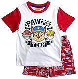 Paw Patrol Schlafanzug Kollektion 2018 Pyjama 92 98 104 110 116 122 Shortie Shorty Jungen Rot (Rot, 98)