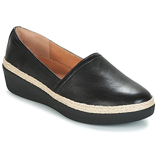 Fitflop Womens CASA Loafers Black Flat Shoes