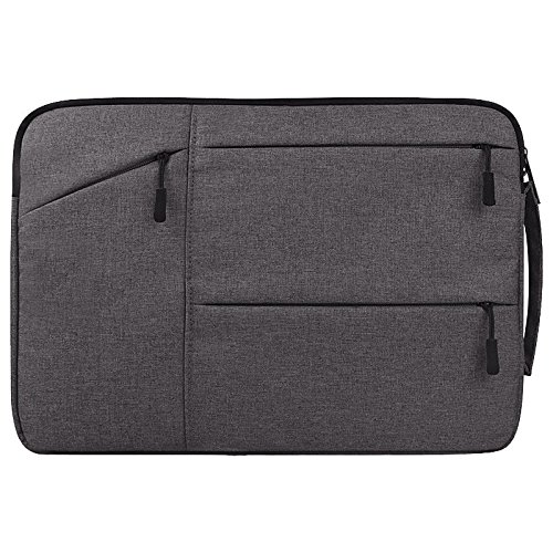 PANGOIE, Laptoptasche, Multifunktionale Wasserdichte Laptoptasche, Laptop-Hülle Mit Griff Tasche Für 15 15,6 Zoll Asus/Acer / Dell/HP / Lenovo/Toshiba, Grau Und Pink,4-14Inch