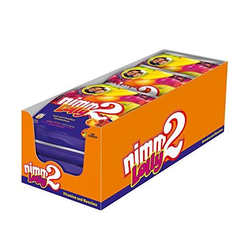nimm2 Lolly - Fruchtige Lutscher in vier unterschiedlichengeschmackskombinationen zum Naschen für dieganze Familie - (6 x 120g Beutel)