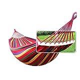 Vovoly Amaca da giardino con kit di fissaggio e borsa Anti-rollover per campeggio backpacking, escursionismo, viaggi, spiaggia, cortile
