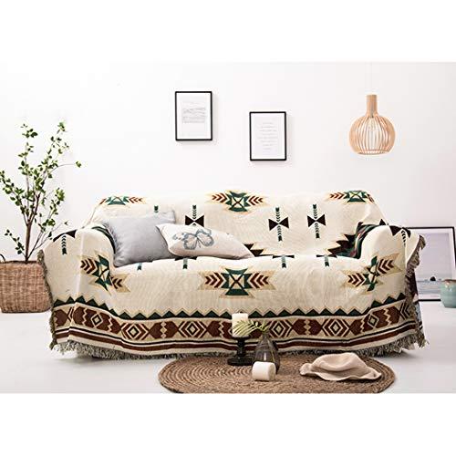 Blumen-bett-decke (BINGMAX Überwurfdecke Baumwolle Modischer Böhmen Wohndecke Tagesdecke Sofa Bett Decke mit quaste für Kinder Erwachsene,Steppdecke für Couch (160 * 260, Sucreti-Blume))