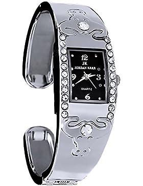 Armreif JORDAN KERR Armbanduhr Damen nickelfrei analog, 7882BK/2