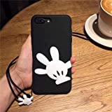 MARCU Home Iphonexsmax Minnie Bow Apple xs Mobile Shell Silikon Mickey 5S Finger Apple 6S / I8p-Buchse (Color : 1-iPhone xr)
