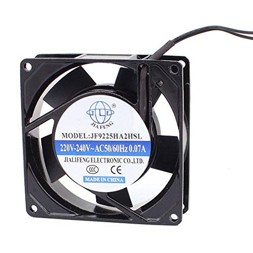 sourcingmap AC 220V-240V 90mmx90mmx 25mm 5 paletas de ventilador del radiador de...