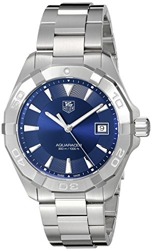 TAG Heuer Men's Swiss Quartz Stainless Steel Casual Watch, Color Silver-Toned (Model: WAY1112.BA0928)