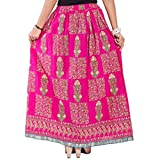 Decot Paradise Women's A-Line Skirt (SKT334_Pink_Free Size)