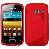 mumbi TPU Silikon Schutzhülle für Samsung Galaxy Y Duos transparent rot