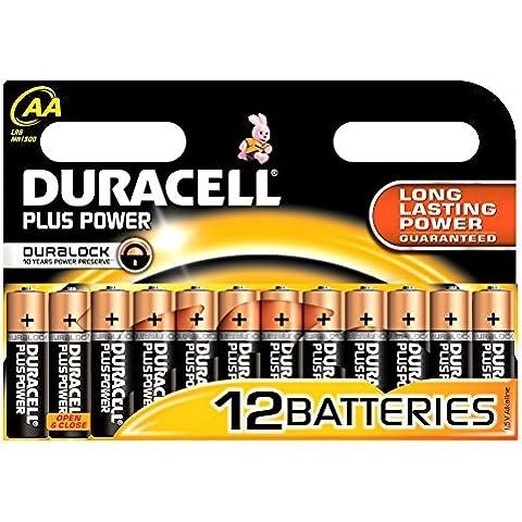12 x el poder de además de Duracell paquete de pila de cuero de grano del 12 x