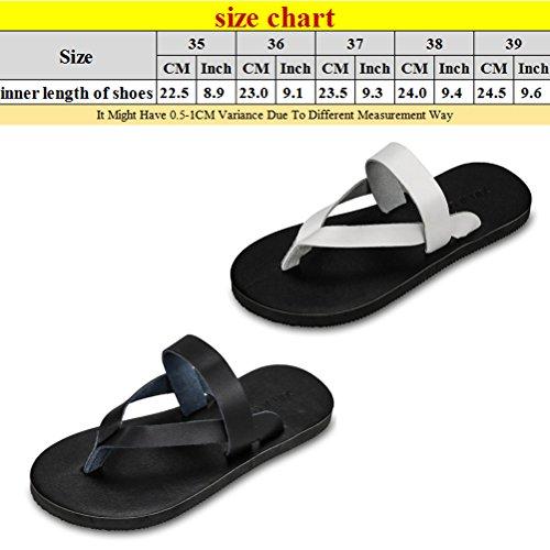 Zhuhaitf Haute qualité Summer Womens Beach Fashion Slippers Comfortable Flat Flip Flops white