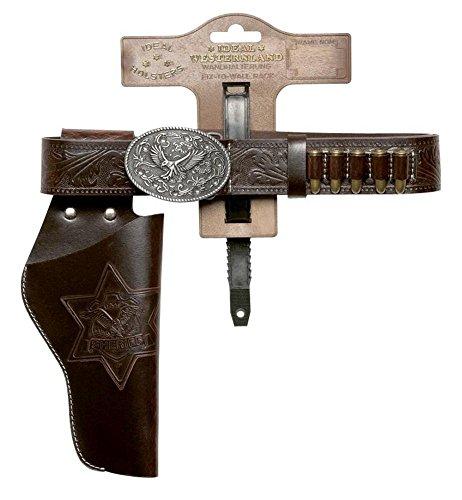 KARNEVALS-GIGANT Revolvergürtel  LADY braun | Größe ca. 105 cm | Pistolengürtel