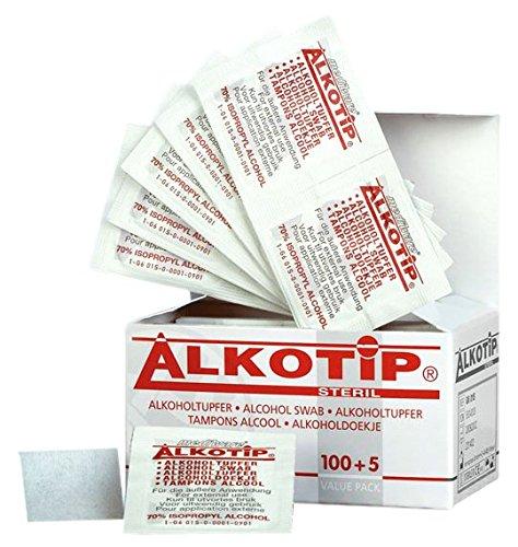 Alkotip 05004008 Alkoholtupfer, steril (105-er Pack)