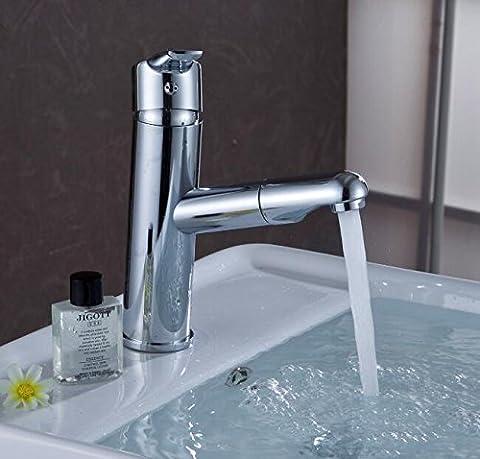 Maifeini Chrome-Plated Kupfer Wasserfall Bad Armatur Ziehen Sie Becken Mischbatterien Mischung Von Heiß Und Kalt Waschen Messing Tippen