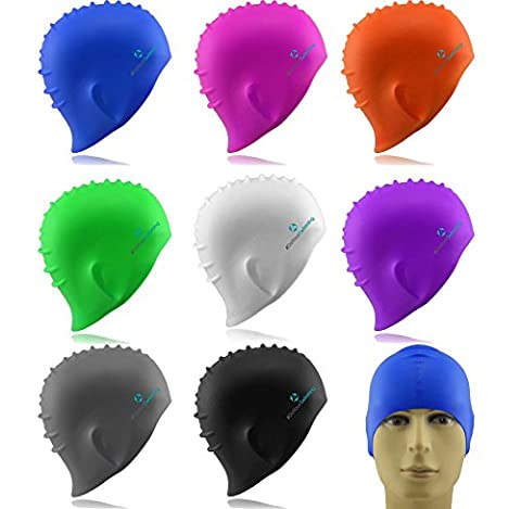 Badekappe »Barney« Unisex aus langlebigem Qualitäts-Silikon (Elasthan), sehr elastisch, passt sich jeder Kopfform perfekt an gruen