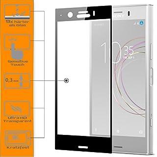 zanasta 1x Full Cover Displayschutzglas für Sony Xperia XZ1 - Schwarz