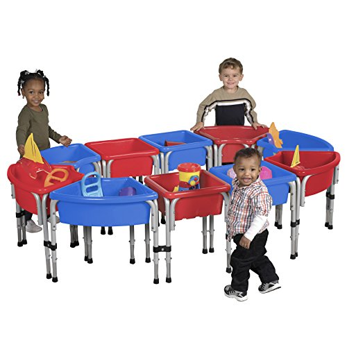 ECR4Kids Modular arena y agua jugar mesa con tapa, varios colores