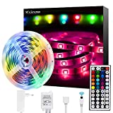 Ksipze LED Strips Lights 5 m (16 ft) Waterdicht 44 Key IR Afstandsbediening 5050 RGB 12 V Light Strips