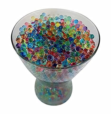 Approx. 10,000 (53g) Water Beads / Aqua Gems - Crystal Soil - Mixed Colours