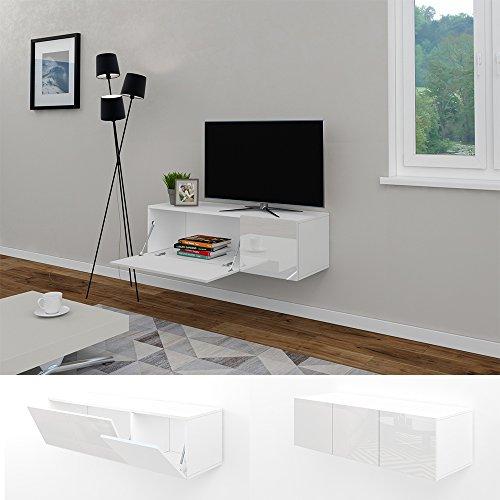 Wohnwand schwebend  wohnwand hochglanz weiß design - Bestseller Shop für Möbel und ...