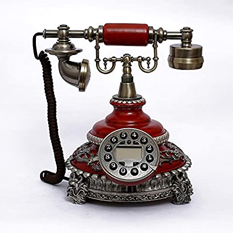 XIE European creative retro, corded telephone sets new high-end home office landline caller ID telephone (High End Telefoni Cordless)