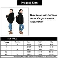 Porte bébé gris et rouge Trois-en-un mère multifonctions Kangourou Zipper  Hoodie Manteau 0bc5f0c0943