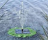 Solar Teichpumpe mit Fontäne schwimmendes Seerosenblatt
