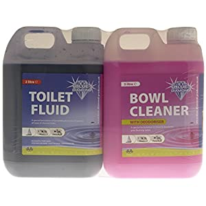 51LSOcFnQdL. SS300  - Blue Diamond BD100 Fluid and Cleaner Toilet Twin Pack-Multicoloured