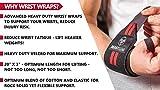 Beast Gear Wrist Wraps – Heavy Duty Professional Standard Weight Lifting Wrist Wraps.