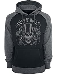 9e3e36839ac4 Guns N  Roses Skull And Pistols Sweat à capuche noir gris