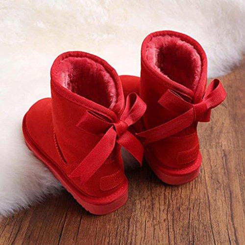 Heart&M Inverno nuovo stile canna dolce fiocco di pelle confortevole imbottito calda neve stivali donna stivali b