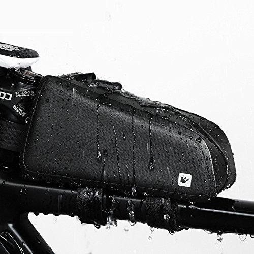 Hukangyu1231 Fahrrad Rahmentasche Bike Bag Top Tube Tasche Vorne Tube Rahmentasche Wasserdichtigkeit Fahrrad Tasche Professionelle Radfahren Zubehör Fahrradtasche