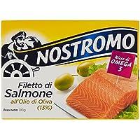 Nostromo Filetto di Salmone all'Olio di Oliva, Ricco di Omega 3-110 gr