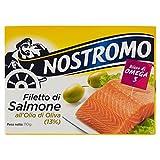 Nostromo Filetto di Salmone all'Olio di Oliva, Ricco di Omega 3 - 110 gr