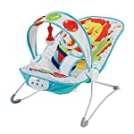 Fisher-Price Kick and Play Musical Bouncer, New-born Baby Bouncer and Chair with Removable Toy Bar and Calming…