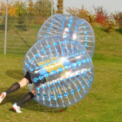 amazingsportstm burbuja bola de fútbol traje para niños barato 4pies 1.2m PVC azul