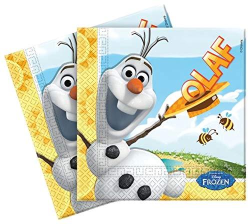 Disney 84624 Frozen Papier Servietten, 20 Stück mit Sommer Olaf, Multi-Colored