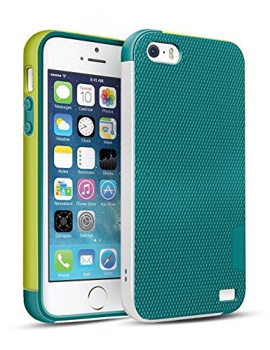 iPhone SE Funda - HanLuckyStars [Ultra Hybrid] Funda Carcasa Case TPU Matte Shell Exact Bumper Tope Shock Protección Gota Anti-Arañazos , Choque Absorción Borrar Espalda para Apple iPhone SE/5/5S