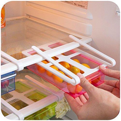 Kitchen express MultiPurpose Shelving Kitchen Fridge Freezer Space Saver Refrigerator Storage Rack Shelf Drawer Holder
