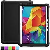 Funda Galaxy Tab S 10.5 - Poetic [Serie Turtle Skin] Funda Samsung Galaxy Tab S 10.5 (SM-T800 / SM-T805) - [Protección Esquina/Parachoques] [Amplificación de Sonido] Funda Protectora de Silicón para Samsung Galaxy Tab S 10.5 (SM-T800 / SM-T805) Negro (3 Años Garantía del Fabricante Poetic)