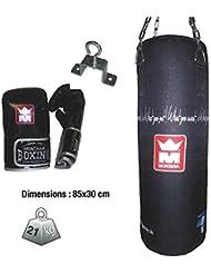 Kit saco de boxeo Bagpack Montana saco + guantes + gancho