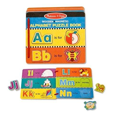 Melissa & Doug 14590 - Englisches Alphabet-Puzzlebuch mit magnetischen